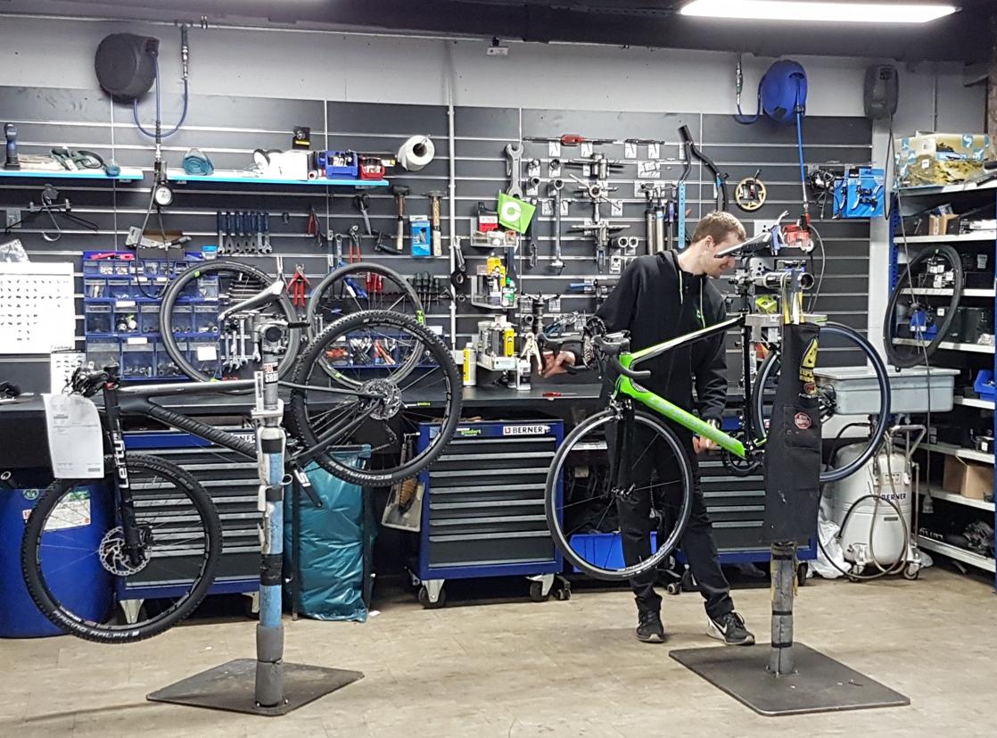 réparation vélo atelier